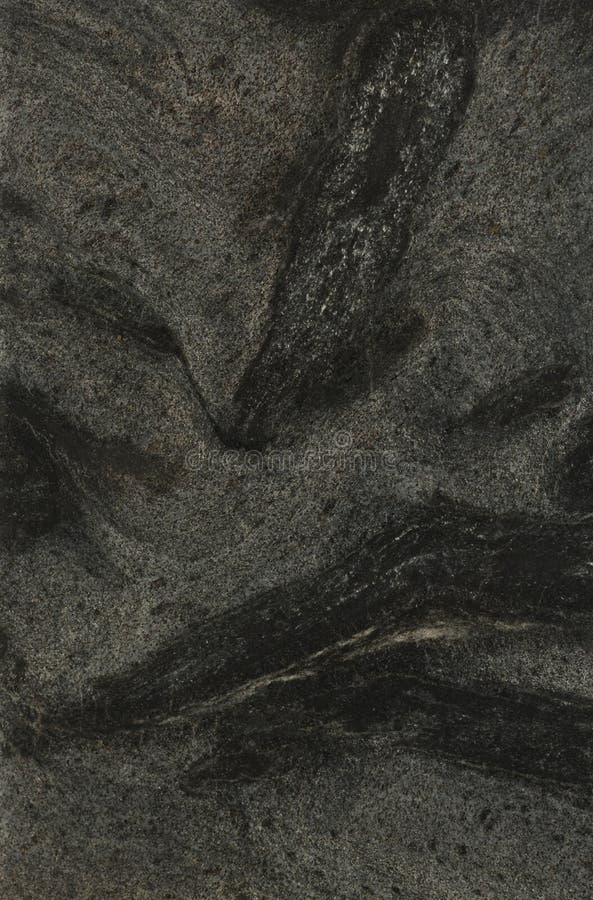 黑色上色花岗岩灰色表面 免版税图库摄影