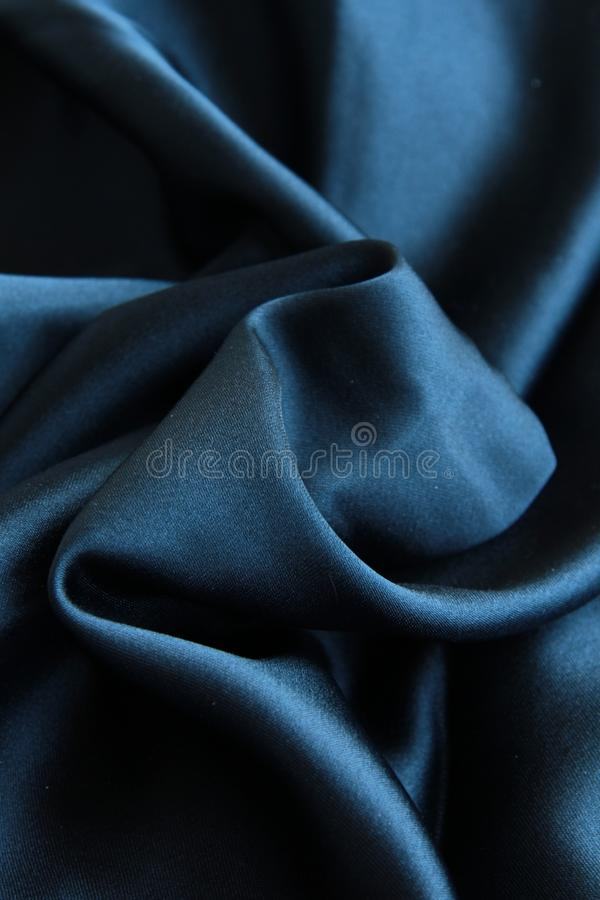 黑色丝绸 库存图片