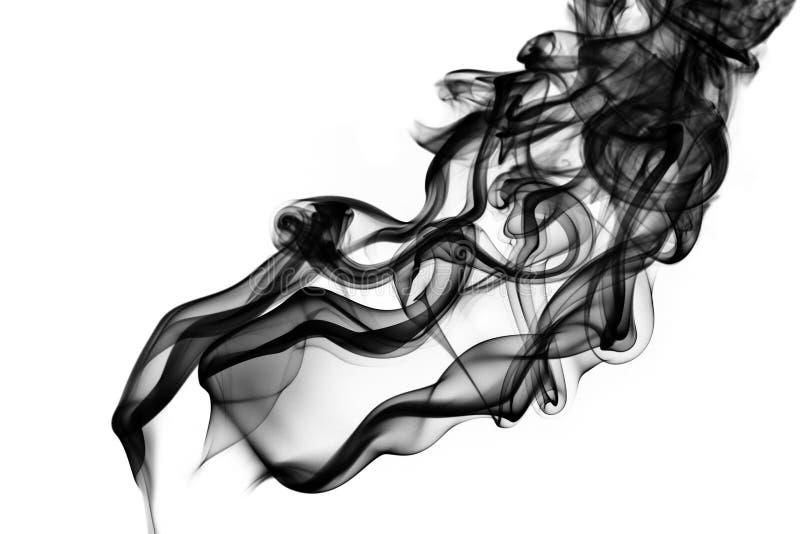 黑色严重的烟 库存图片