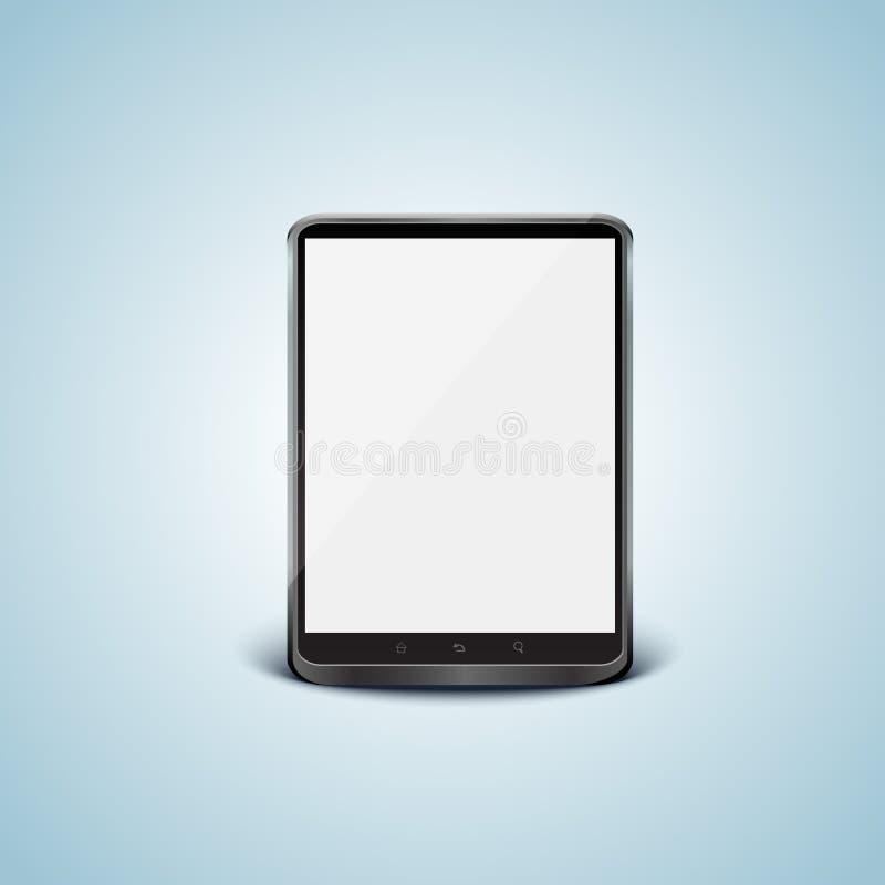 黑色个人计算机屏幕片剂向量白色 向量例证