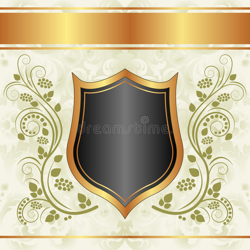 黑色乳脂状的金背景 库存照片