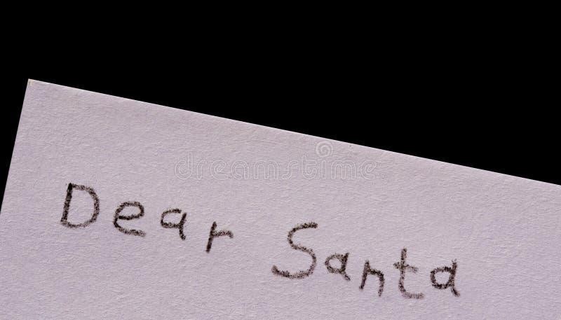 黑色亲爱的查出的圣诞老人 图库摄影