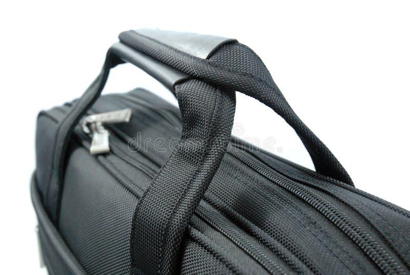 黑色企业把柄查出的手提箱 免版税库存图片