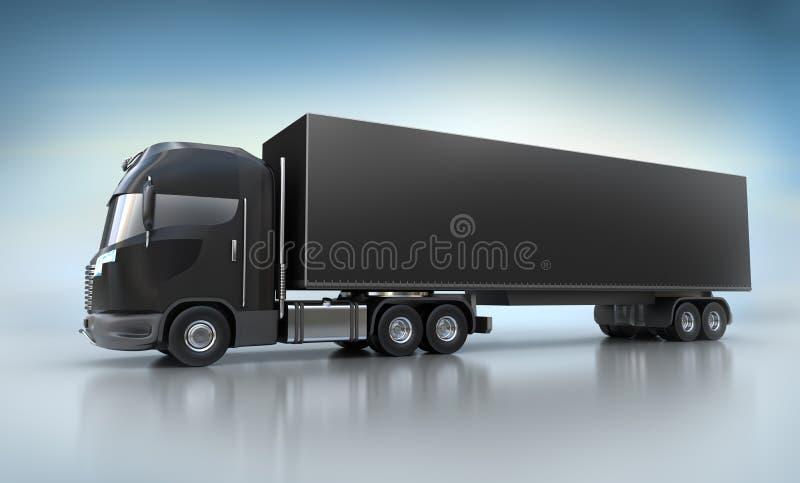 黑色例证卡车 皇族释放例证