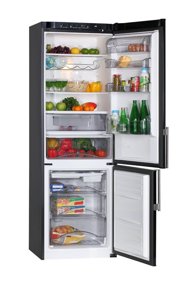 黑色冰箱 库存照片