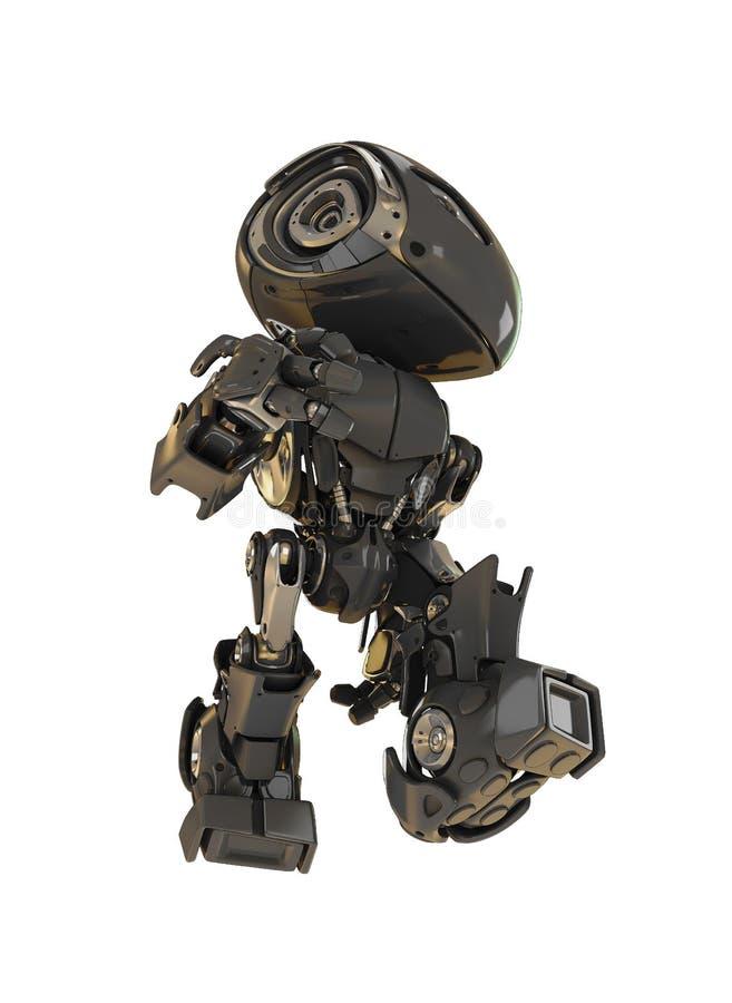 黑色冷静机器人 向量例证