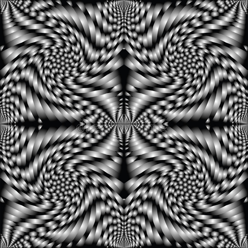 黑色减速火箭的螺旋纹理 皇族释放例证