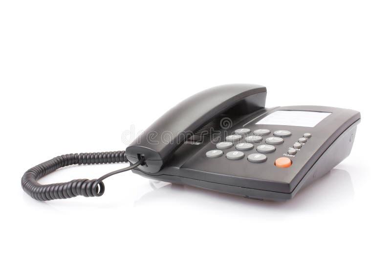 黑色办公室电话 库存照片