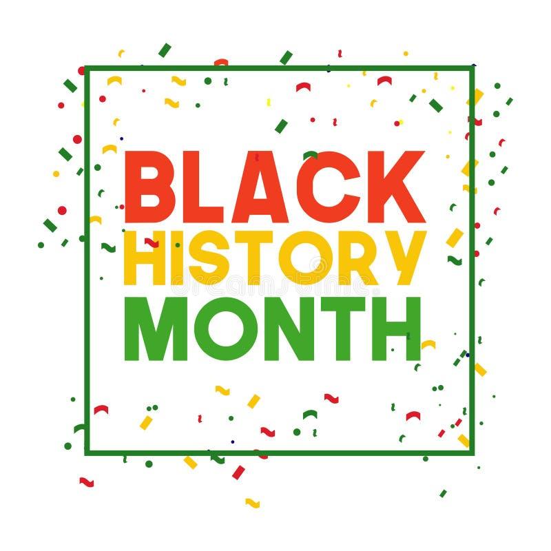 黑色历史月传染媒介模板设计以图例解释者 免版税库存照片
