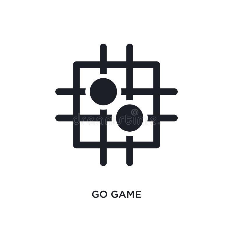 黑色去比赛被隔绝的传染媒介象 从体育概念传染媒介象的简单的元素例证 是比赛编辑可能的商标标志 库存例证