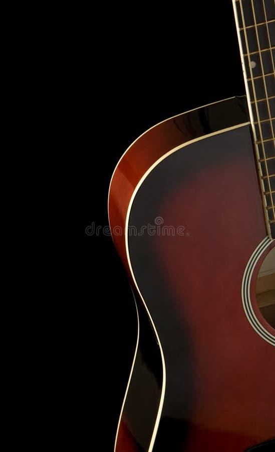 黑色古典吉他 库存照片