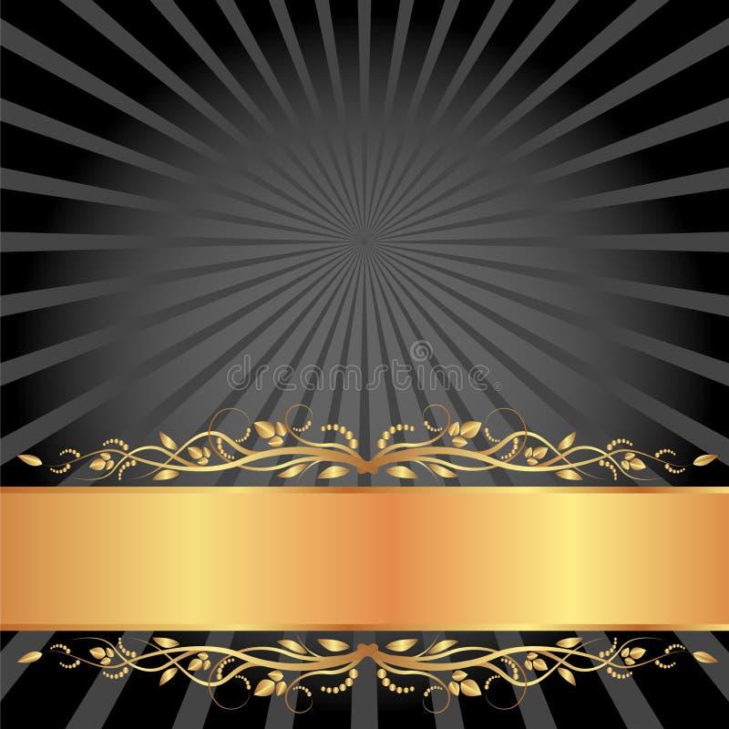 黑色和金背景 免版税图库摄影