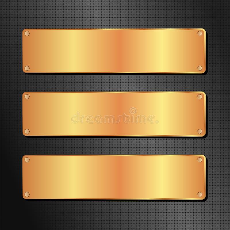 黑色和金黄背景 库存例证