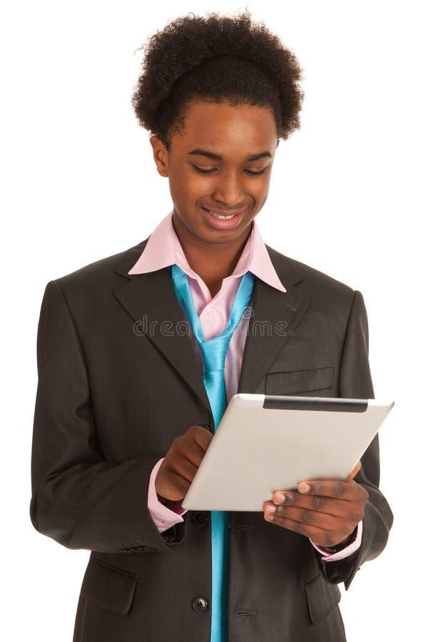 黑色商人年轻人 免版税库存图片