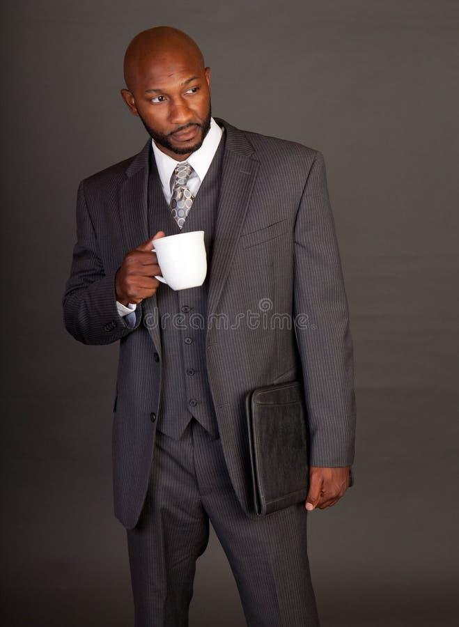 黑色商人年轻人 库存照片