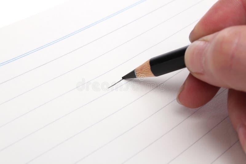 黑色图画铅笔 库存照片