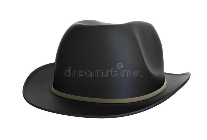 黑色圆顶硬礼帽 向量例证