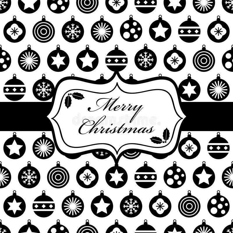 黑色圣诞节包裹 库存例证