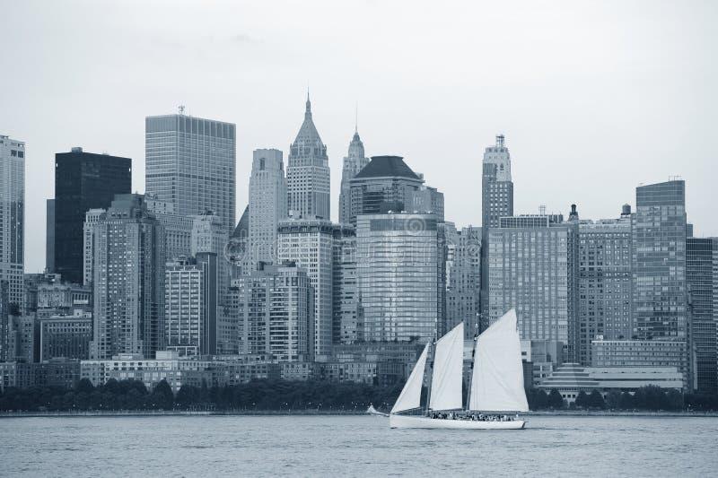 黑色城市曼哈顿新的空白约克 图库摄影