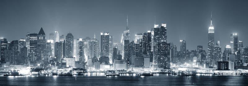 黑色城市曼哈顿新的空白约克 免版税库存照片