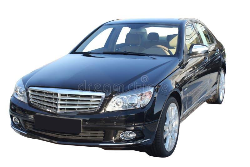 黑色大型高级轿车 免版税图库摄影
