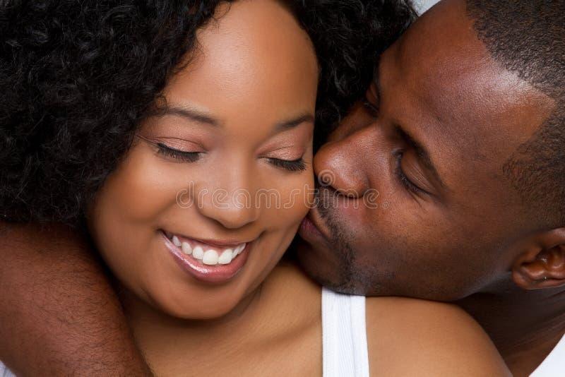 黑色夫妇 免版税图库摄影