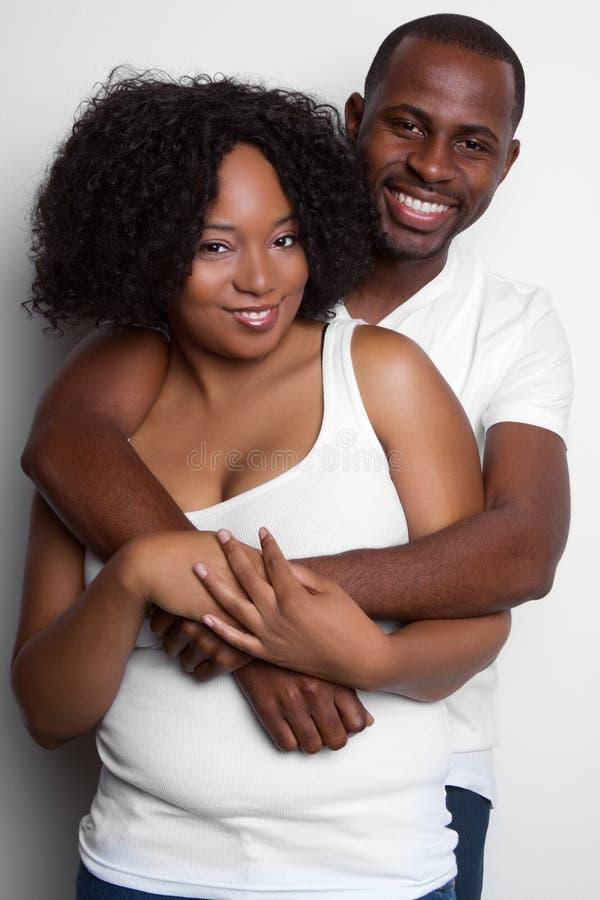 黑色夫妇 免版税库存图片