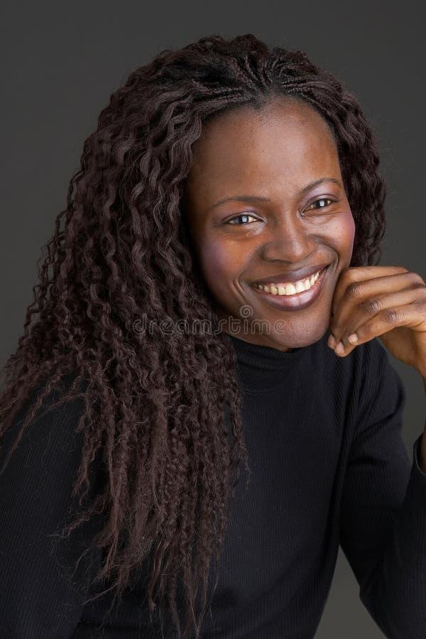 黑色女孩微笑 库存图片