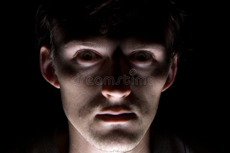 黑色害怕人 库存照片