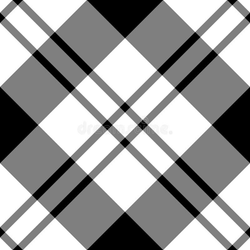 黑色对角白色 向量例证