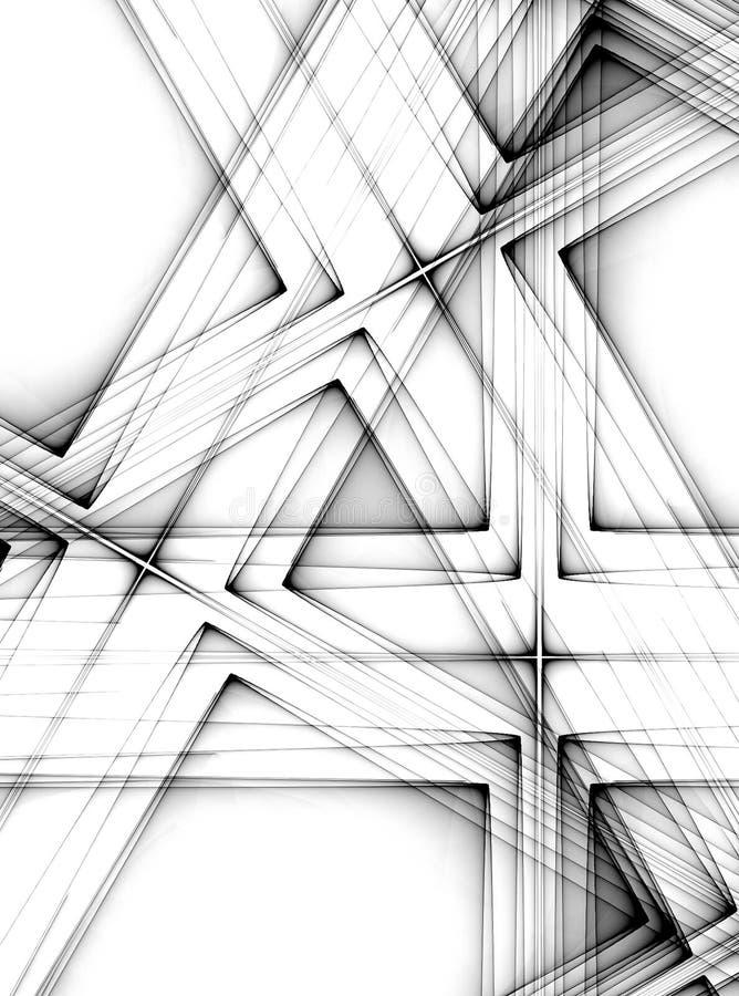 黑色对角线路数据条 向量例证
