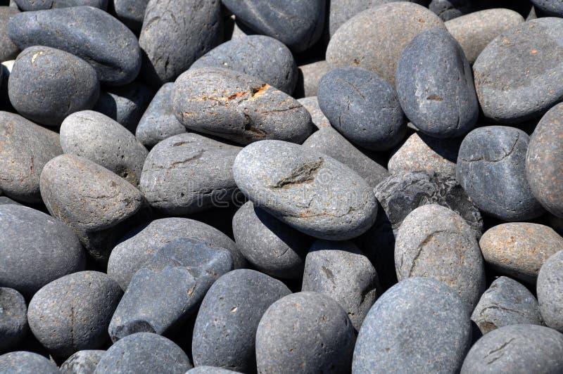 黑色小卵石火山 免版税图库摄影