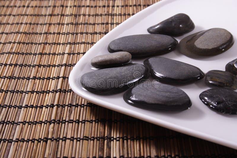 黑色小卵石 库存照片