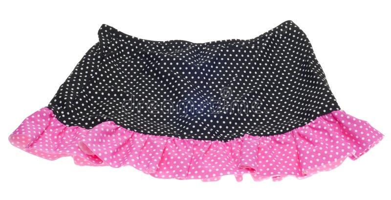 黑色小点粉红色短上衣裙子 免版税库存图片