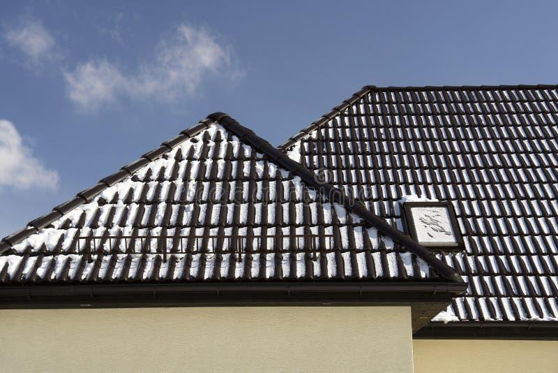 黑色屋顶 库存照片