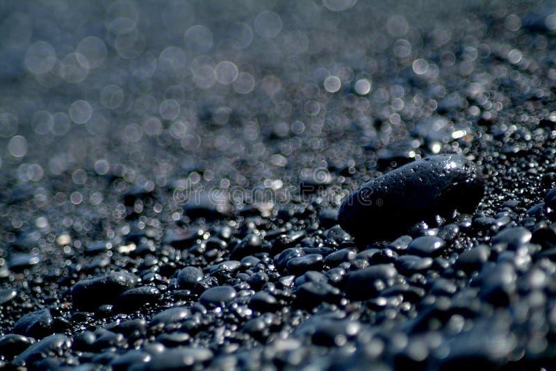 黑色岩石 免版税库存照片