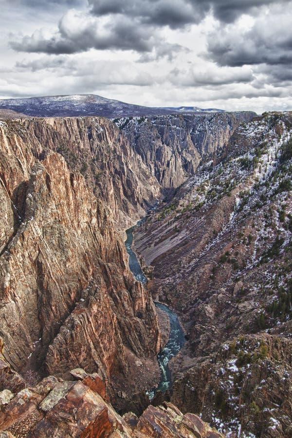 黑色峡谷科罗拉多gunnison公园 免版税图库摄影