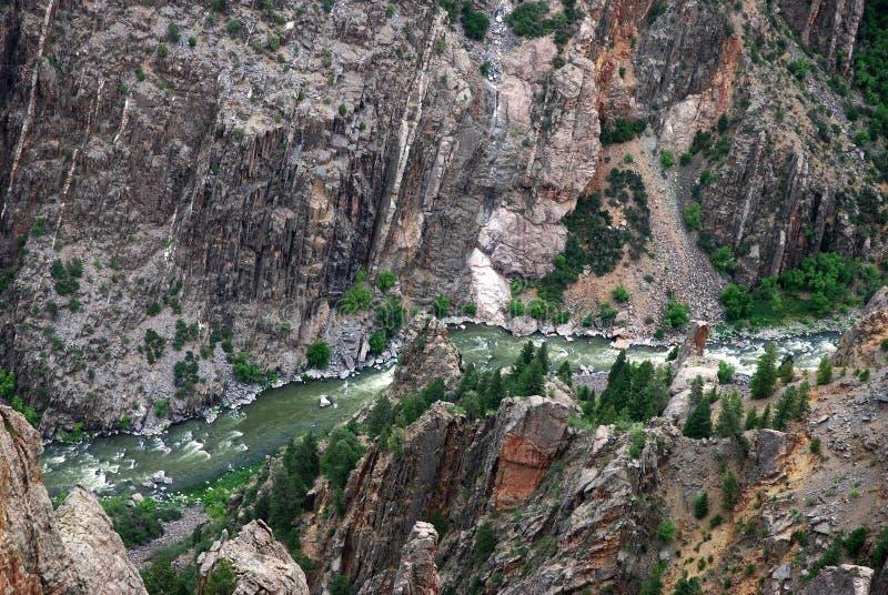 黑色峡谷gunnison 免版税库存图片