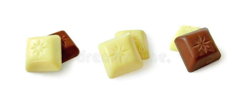 黑色巧克力白色 免版税库存照片