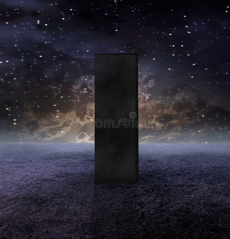 黑色巨型独石 向量例证