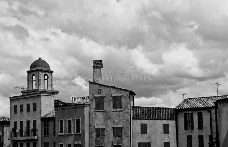 黑色巴黎白色 免版税图库摄影
