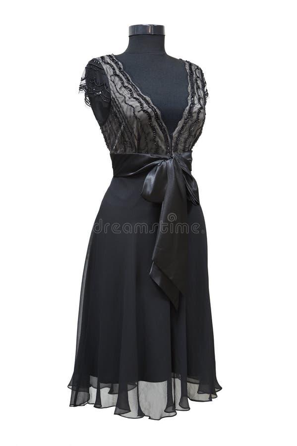 黑色庆祝的礼服 免版税库存照片