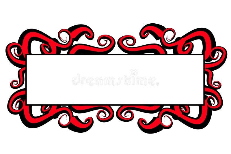 黑色徽标页红色漩涡万维网 皇族释放例证