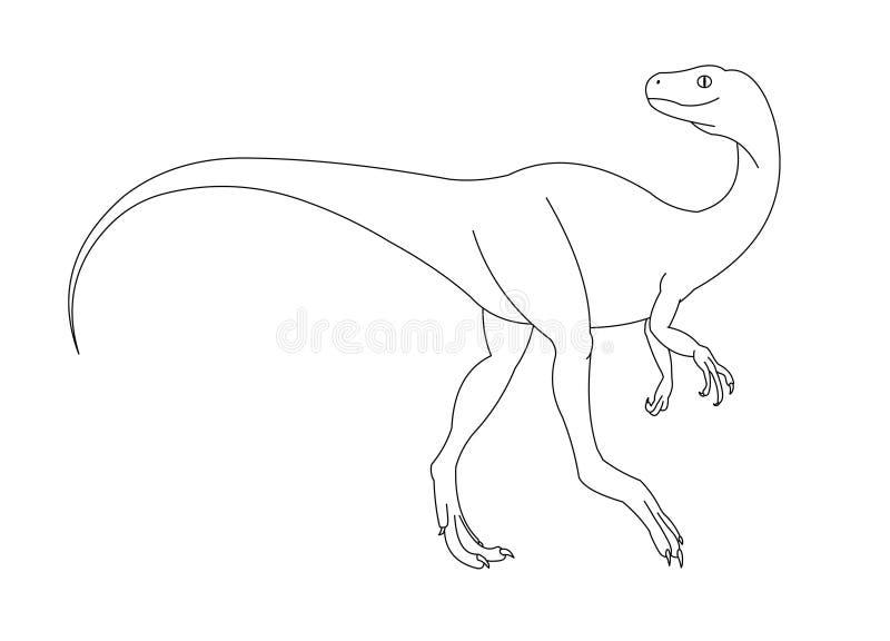 黑色恐龙白色 库存照片