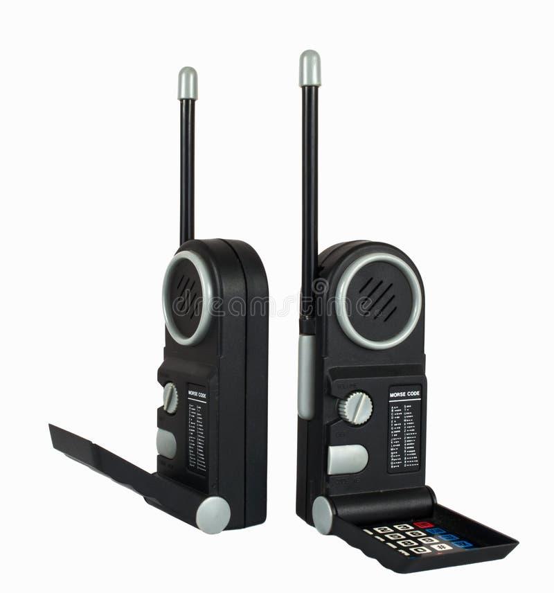 黑色手提电话机设置二 免版税库存图片