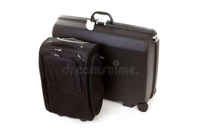 黑色手提箱二 库存照片