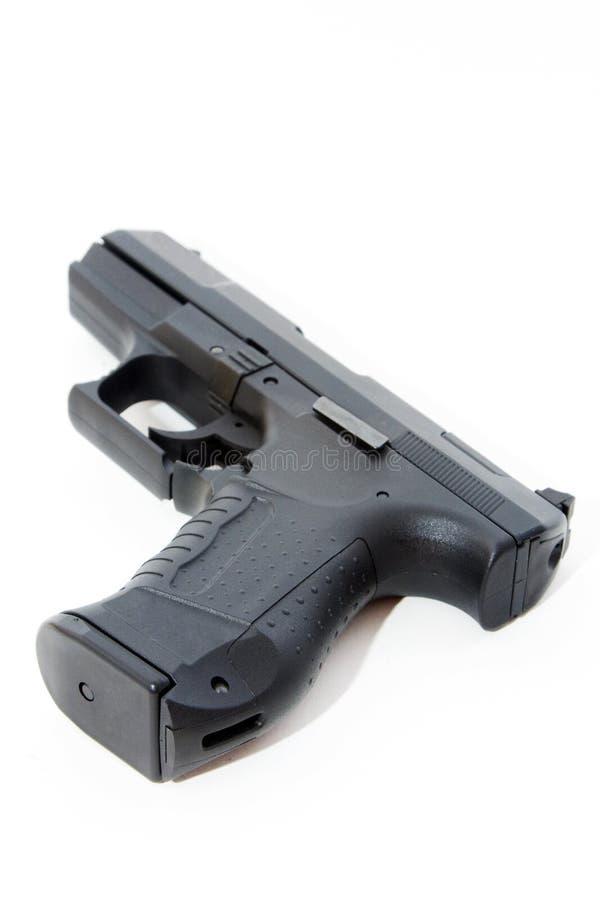 黑色手枪 免版税库存照片