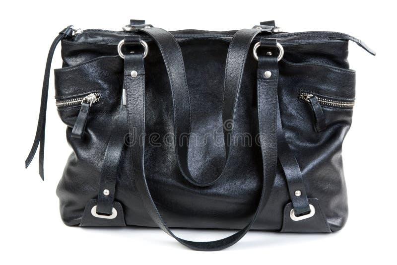 黑色手袋夫人皮革 库存照片