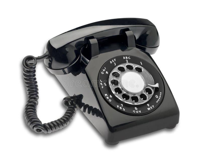 黑色拨号查出的电话 库存照片