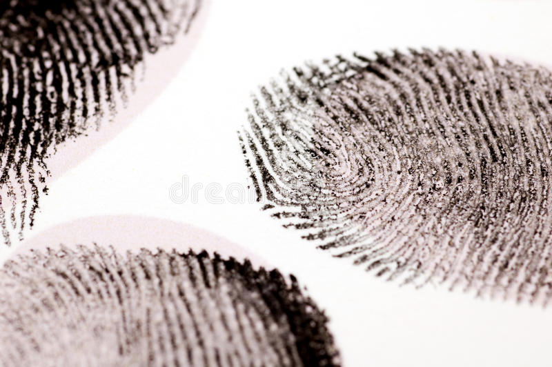 黑色指纹墨水 免版税库存图片